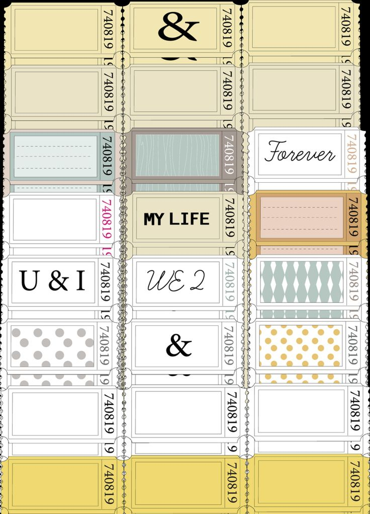 63 best Printable Journaling Cards \ Tags images on Pinterest - printable blank tickets