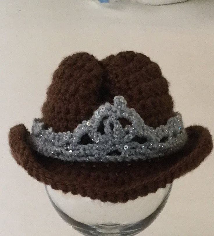 Crochet Baby Cowboy Cowgirl Hat Pattern with Written Tutorial