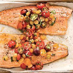 Fillets-Truite-Salsa-Tomates-Cerises