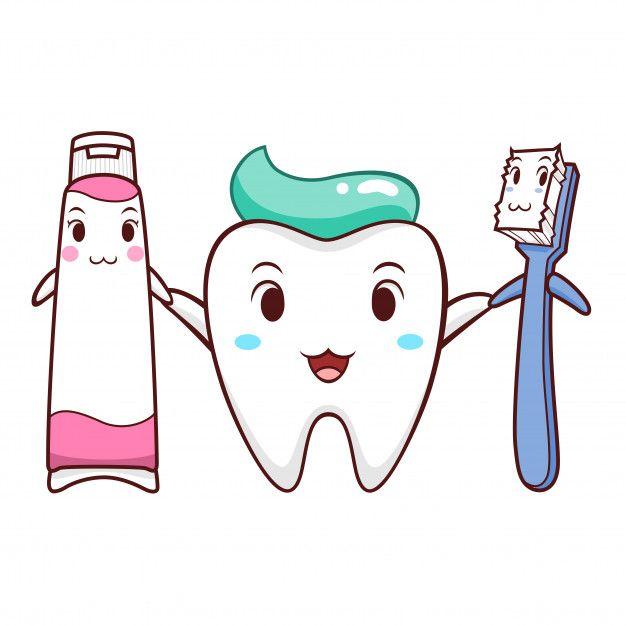 Ilustracao Dos Desenhos Animados Do Dente Da Escova De Dentes E Do Dentifrico Vetor Premium Free Dentes Desenho Desenho Animado De Dentista Fada Dos Dentes