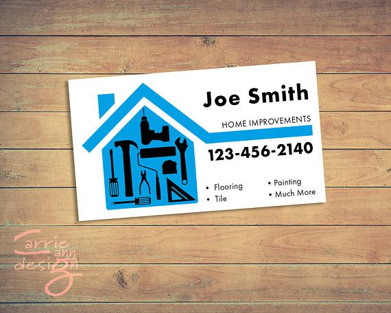Home Improvements Handyman Business Cards Print Download Etsy Home Improvement Loans Printing Business Cards Handyman Business