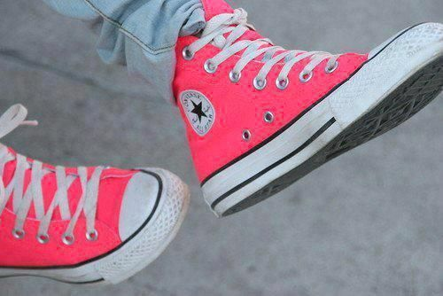 Natalie's sway pink converse.She wears these when...she wears these.She loves them.There her fav couple.