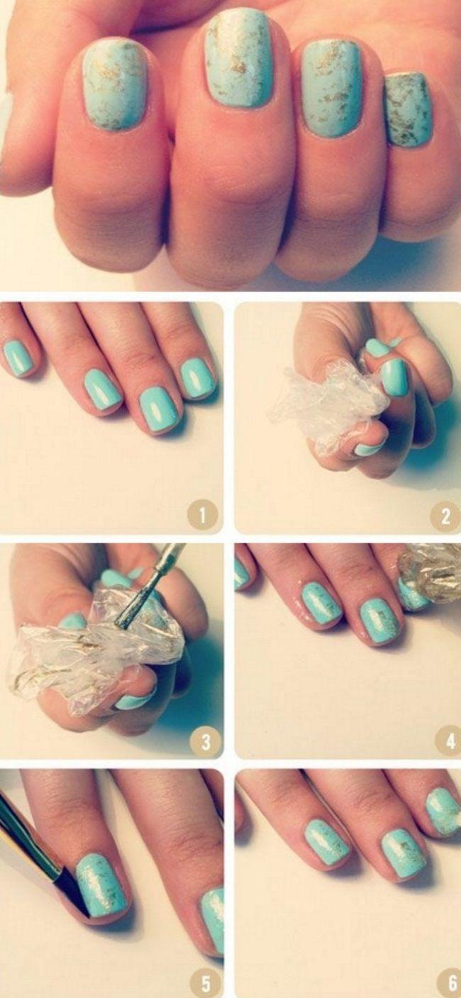 бирюзовые ногти