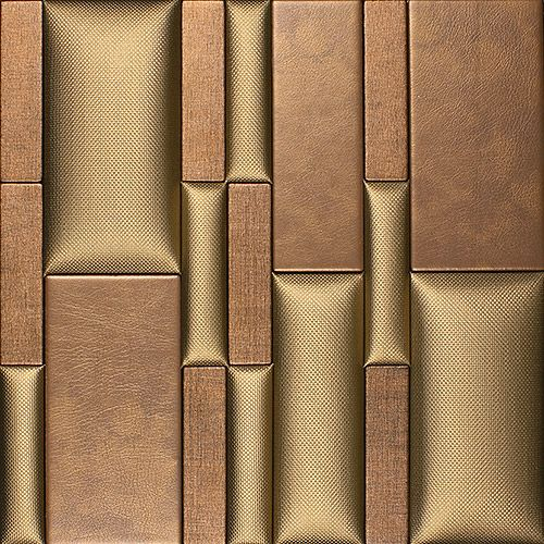 25 best ideas about leather wall on pinterest leather for Faux leather floor tiles