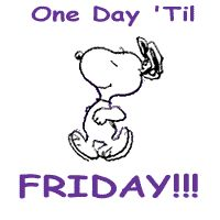 One Day 'Til Friday!!! animated snoopy friday thursday happy thursday thursday greeting thursday quote thursday gif