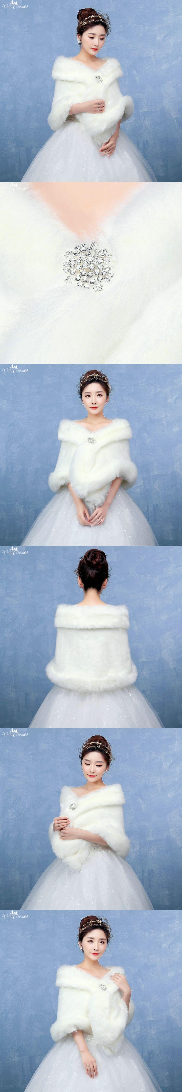 LZP126 Simple Off Shoulder Elegant Waterproof Wedding Fur Bolero Women Off White Wedding Shawl