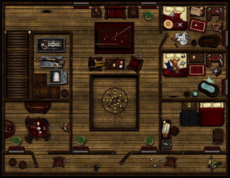 Hard knocks saloon and brothel 2nd floor v3 rpg maps for Floor 2 dungeon map