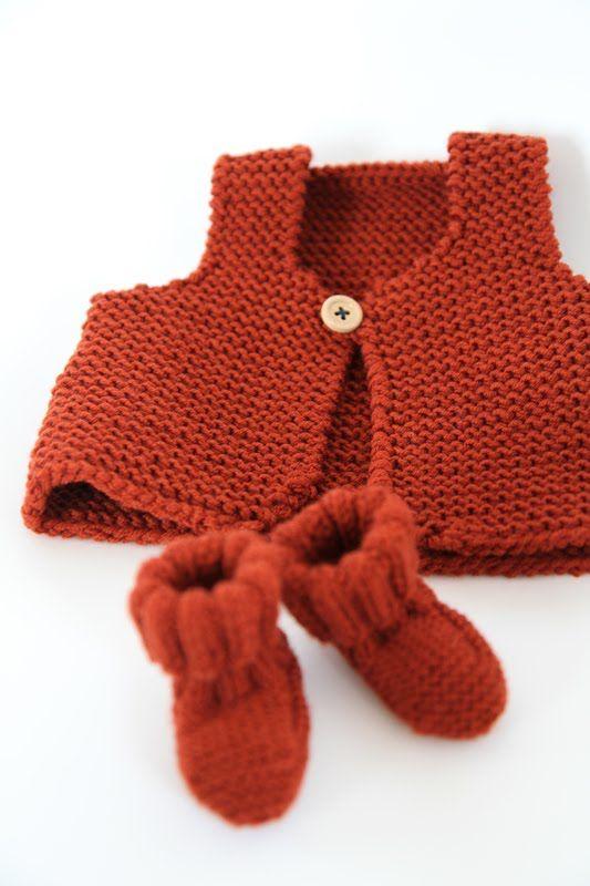 les tricots de Granny: mini gilet de berger _ tuto + explications dans les comms !