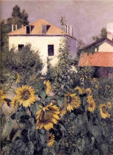Sunflowers in the Garden at Petit Gennevilliers - Gustave Caillebotte