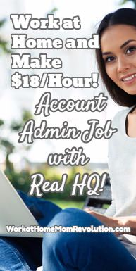 This is an awesome work at home job! Real HQ is seeking a home-based account administrator in the U.S. All you need is a laptop and Internet. $18 an hour!