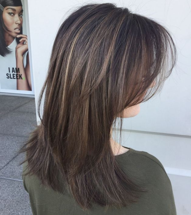 Medium To Long Layered Blowout Hairstyle Haircuts For Fine Hair Medium Hair Styles Long Fine Hair