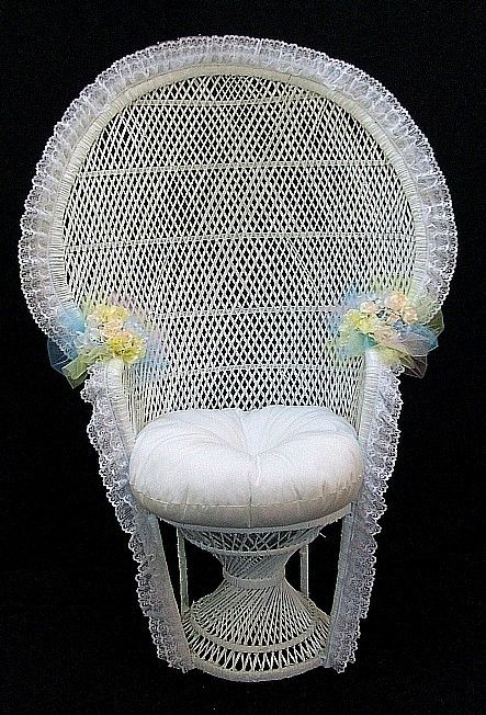 wicker chair of a bridal shower wicker bridal or baby shower chair