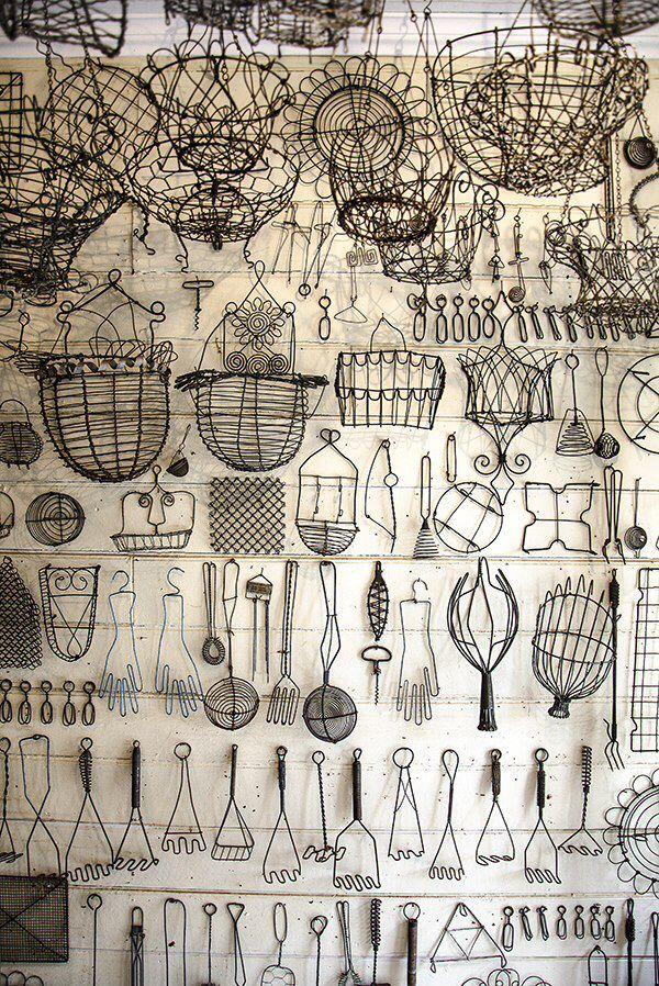 Wire kitchen utensils