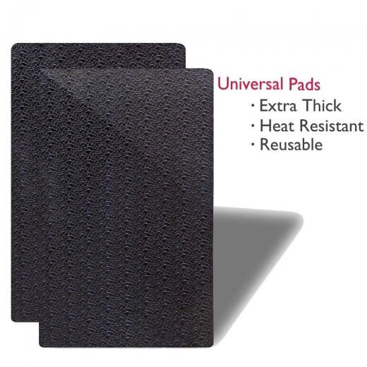 Mini-factory 2 Pcs Thick Car Dashboard Anti Slip Mat Sticky Gel Pad Accessories For Phone Gps Mfstickpad0sm1