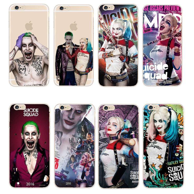 ¡ Caliente! Teléfono Casos Margot Robbie Comando Suicida DC Comics Harley Quinn Transparente caso para iphone 5 5s 5c 6 6 s 7 plus se Fundas