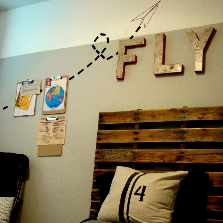 kreative moebel kopfteil holz bretter modern fly idee - Do It Yourself Kinder Kopfteil Ideen