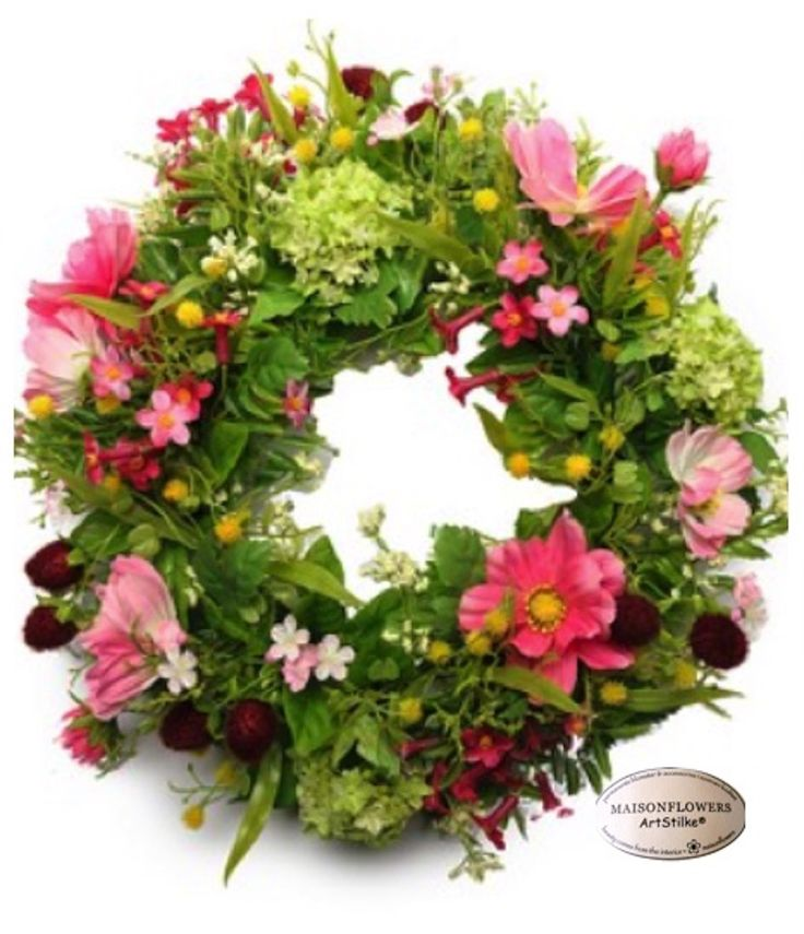 Nordic+Wild+Flower+Wreath,+Midsummer+Meadow, $35.00