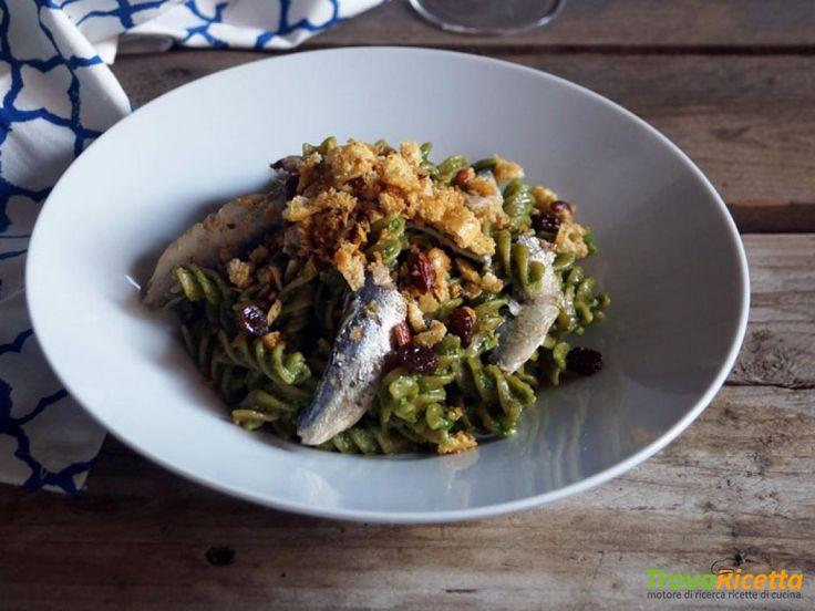 Essenza: Fusilli integrali con alici e pesto di cime di rapa  #ricette #food #recipes