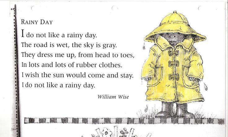 Poem no. 14: Rainy Day | Grade 1
