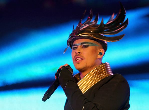 Musician Luke Steele of Empire of the Sun performs onstage ...