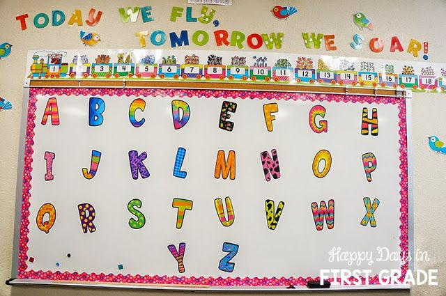 Classroom Decorating Ideas Word Wall With Jumbo Letters On Dry