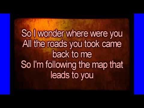 maps maroon 5 lyrics karaoke