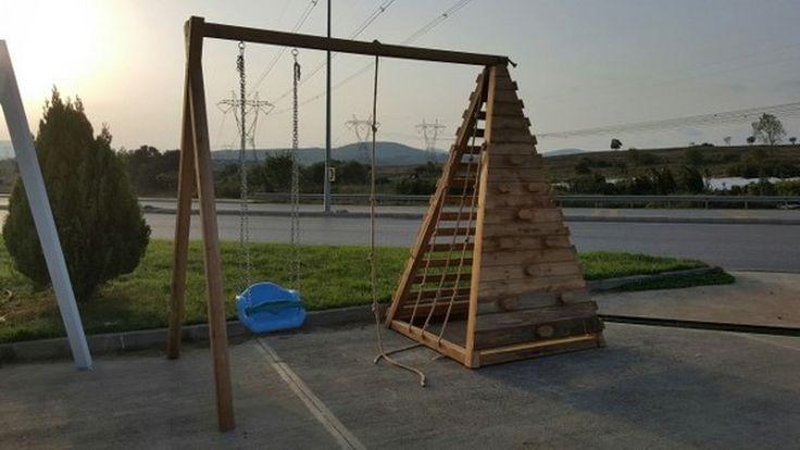 Piramit tırmanma platformu  1 adet 2'li salıncak; 1.sınıf emperenye edilmiş ithal çam ağacı, 2 yıl montaj, 10 yıl çürümelere karşı  ahşap garantisi ,İstanbul içi nakliye montaj dahildir. İstenilen ebatlarda yapılır .   GÖKHAN BAYRAM : 0507 413 4818