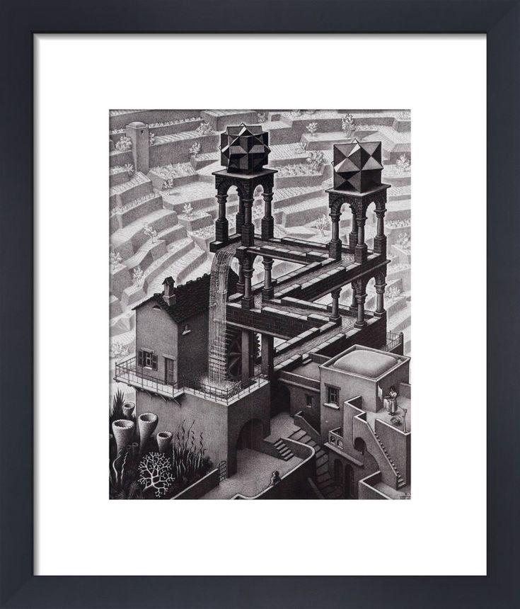 Waterfall Art Print by M.C. Escher | King & McGaw