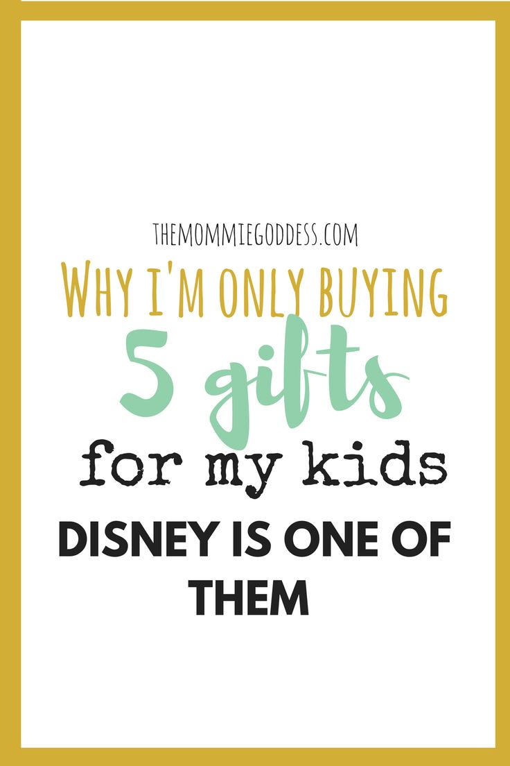 5 Meaningful and Memorable Christmas Gifts For My Kids. Disney Tickets are one. More experiences less stuff. Creating a mindful Christmas. Minimal Christmas. Themommiegoddess.com