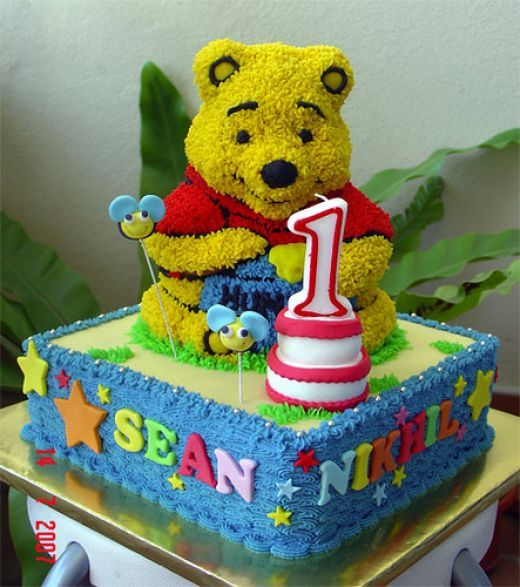 D Mickey Mouse Cake Using Bear Pan