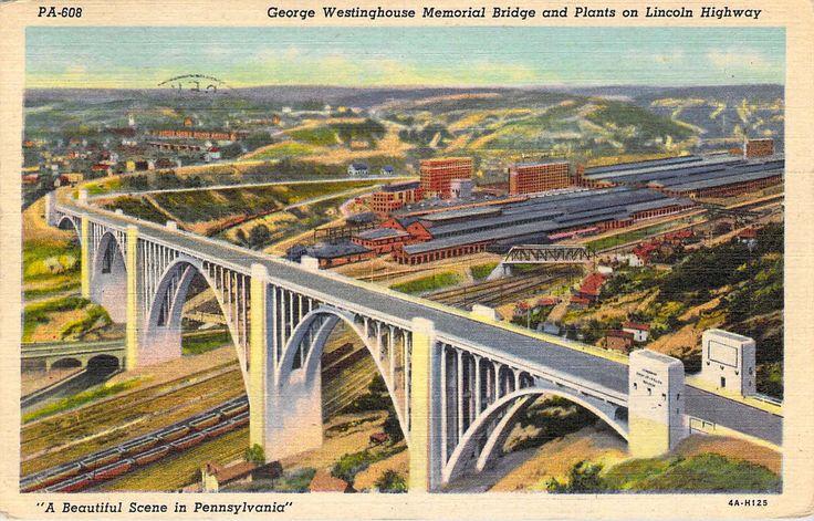 George Westinghouse Memorial Bridge Along Lincoln Highway  Pittsburgh, PA