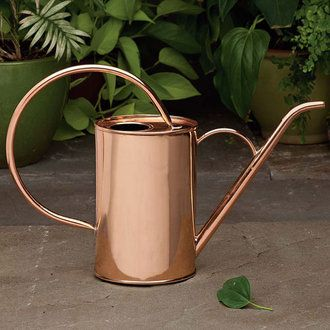 Deluxe Solid Copper Indoor Watering Can Hand made exclusively for Garrett Wade