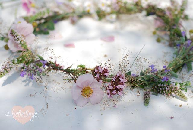 Blumenkranz selbst flechten – #Blumenkranz #boheme…