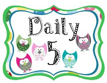This set of Daily 5 owl posters includes:-Read to Self-Read to Someone-Word Work-Listen to Reading-Work on WritingThe owl graphics an...