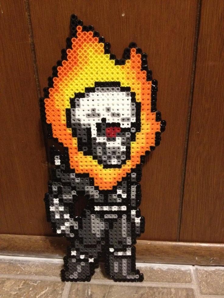 Perler Ghost Rider