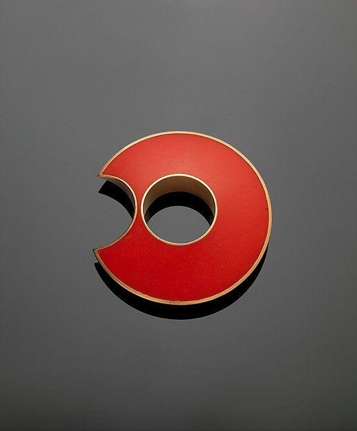 """""""Anello da Mignolo"""" (Ring for Little Finger) Designer: Giampaolo Babetto (Italian, born Padova, 1947) Date: 1983 Medium: 18K gold and synthetic resin Dimensions: Diam. 1 3/4 x H. 1/2 in. (4.4 x 1.27cm) Classification: Jewelry"""