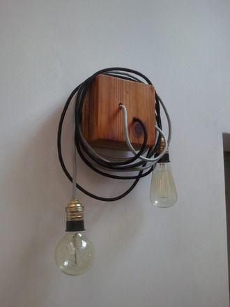 Applique luminaire en bois et fils cotons : Luminaires par fredd-up