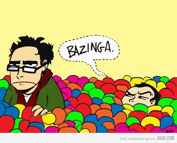 BAZINGA: Favorite Episode, Nerd, Laughing, Big Bangs Theory, Random, Ballpit, Funny Stuff, Things, Ball Pit
