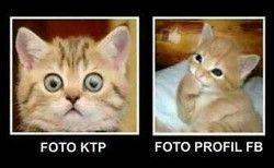 Foto KTP versus foto profil FB...
