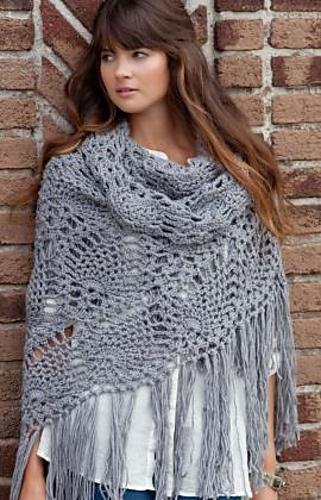 Ravelry: Sidewalk Shawl free crochet pattern by Debbie Stoller