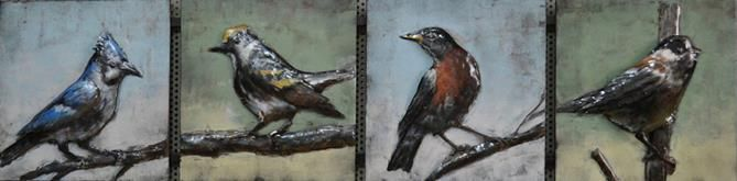 This 3D Steel Wall Art Painting 4 Birds Long is an attractive feature to your Indoor or Outdoor room. This wall art has been hand crafted with a metal frame and handpainted on metal to create a 3D piece. Wonderfully unique, if you are looking for that WOW factor, these are stunning! Dimensions: 1250MM X 300MM $449.95
