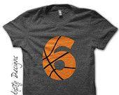 Basketball Number Iron on Transfer - Iron on Custom Basketball Shirt / Sport Birthday Party / Mom Customized Tshirt / Digital Design IT454-P