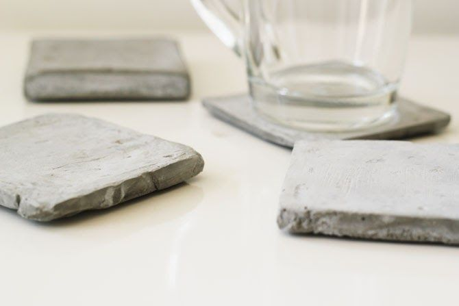 myLifebox: DIY Cement Coasters