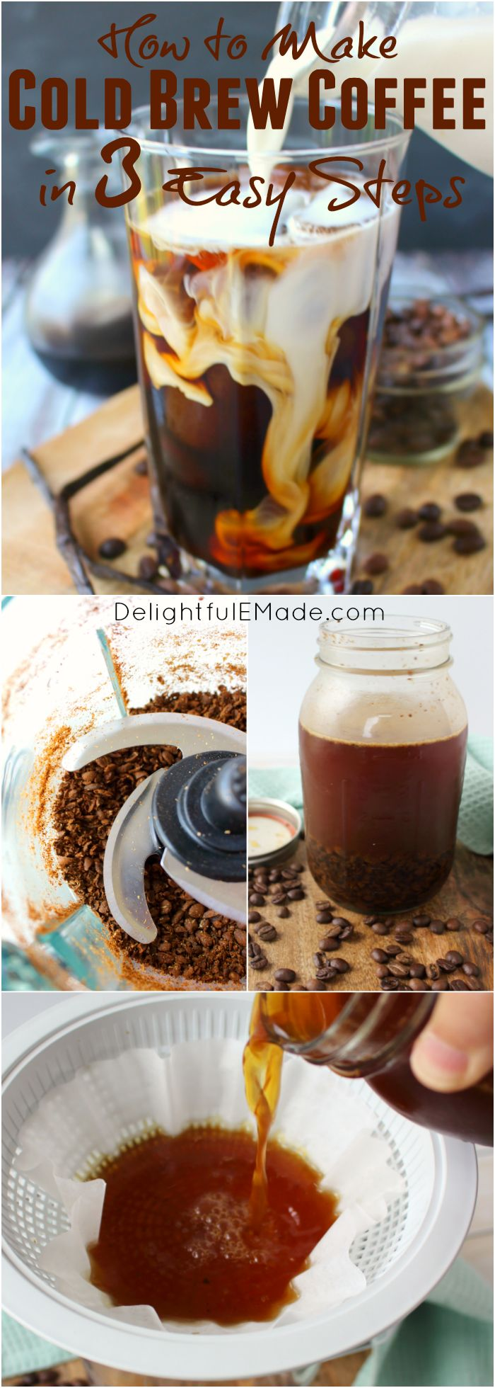 Ever wondered how to make cold brew coffee? It's much easier than you think! Cold Brew Coffee is a fantastic base for frappuccinos, iced coffee recipes, or great to heat up as a traditional brew. Smooth, not bitter, and a must-know for every coffee lover!