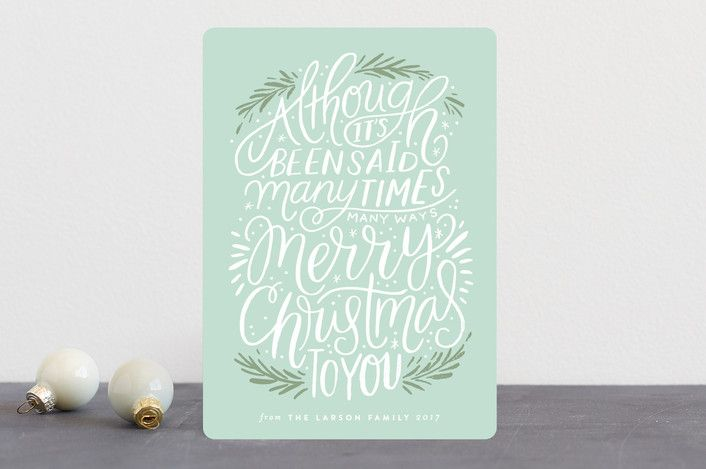 """many times, many ways"" - Vintage Holiday Cards in Holly Berry by Alethea and Ruth."