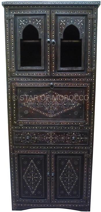 Moroccan Corner Cabinet, Mediterranean furniture, Middle Eastern Decor