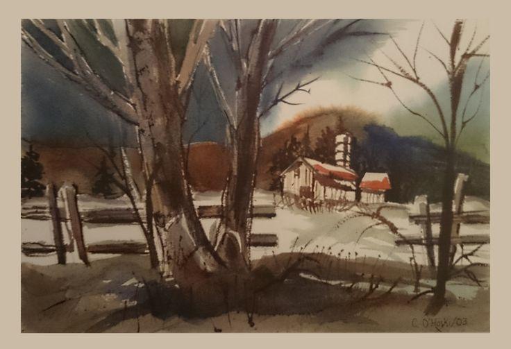 "#tbt Awakening, 2013 14"" X 18"" Watercolour Chris O'Hoski  http://www.facebook.com/christopherohoski"