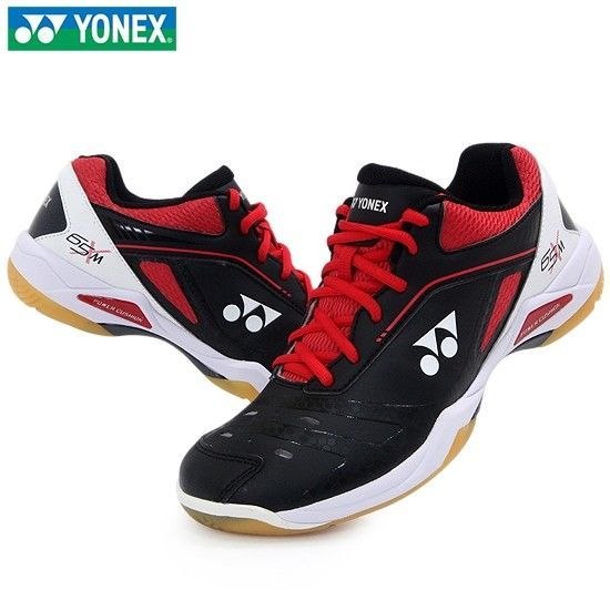 Yonex Men's Badminton Shoes Power Cushion Black Red Racquet SHB-65XMEX Gift NWT #YONEX