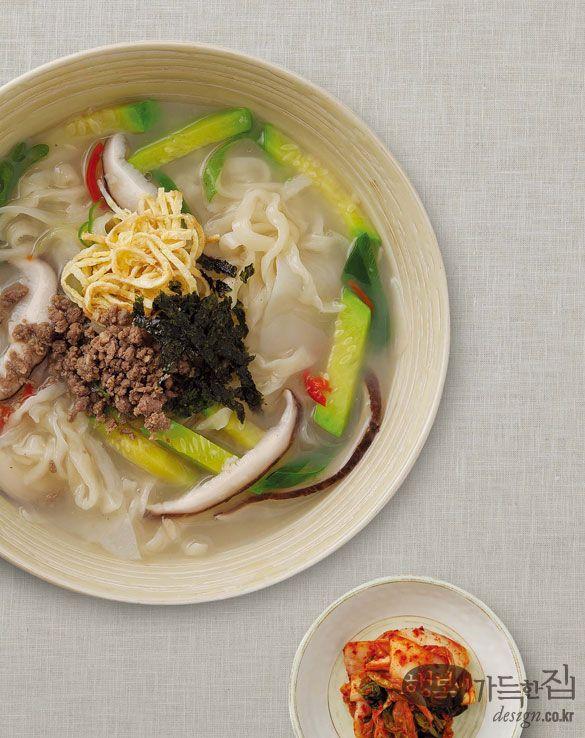 Knifecut Noodles (Kalguksu, 칼국수)