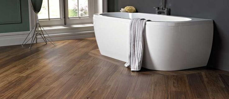 Karndean Van Gogh moisture resistant flooring gives peace of mind for your bathroom floors.